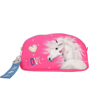 Miss Melody beauty bag pink with glitter