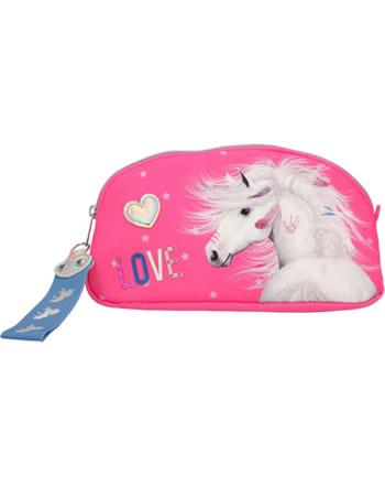 Miss Melody Kosmetiktasche pink mit Glitzer