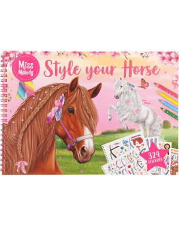 Miss Melody Mal- und Stickerbuch Style your Horse Pelly