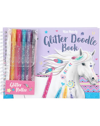 Miss Melody Coloring book Glitter Doodle Book with glitter pens 8590