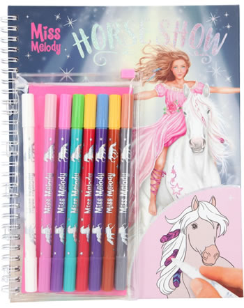 Miss Melody Coloring book with magic felt pens 6049