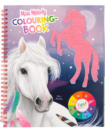 Miss Melody Colouring Book with sequins 11163
