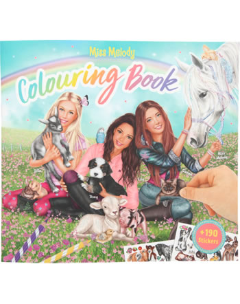 Miss Melody colouring book with animal babies 10409/B