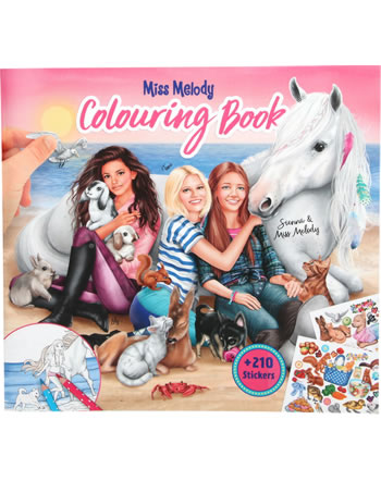 Miss Melody colouring book with animal babies