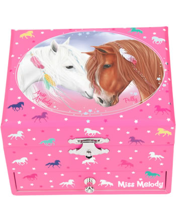Miss Melody Musical box / jewelry case pink