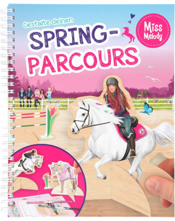 Miss Melody Spring-Parcours Mal-und Bastelbuch