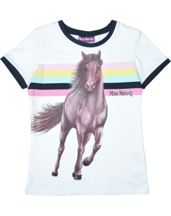 Miss Melody T-shirt manches courtes CHEVAL BRUN white 84006-001