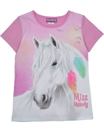 Miss Melody T-shirt manches courtes Plume cyclamen 84066-826