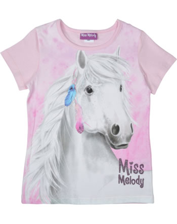 Miss Melody T-shirt manches courtes MISS MELODY AVEC PLUMES pink lady 84003-832