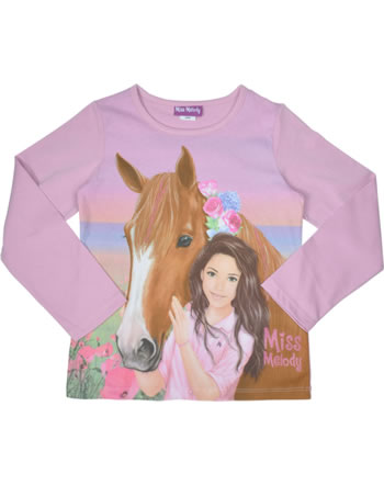Miss Melody T-shirt manches longes cheval brun pastel lavender 84056-813
