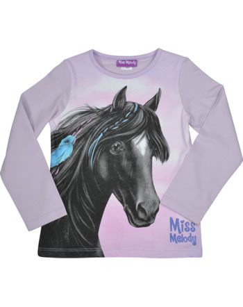 Miss Melody T-Shirt Langarm schwarzes TRAUMPFERD orchid bloom 84083-856