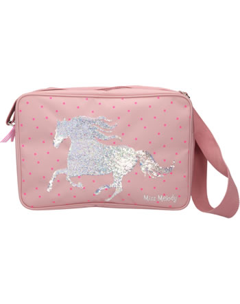 Miss Melody shoulder bag with sequins mallow