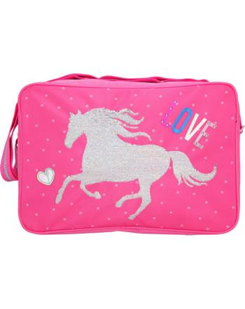Miss Melody shoulder bag with sequins pink