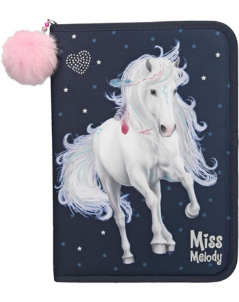 Miss Melody XXL pencil case with filling dark blue