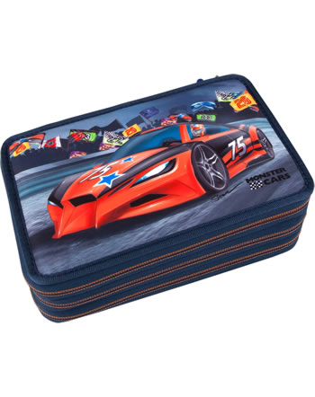 Monster Cars pencil case with filling