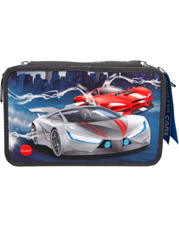 Monster Cars pencil case with filling with LED 11067