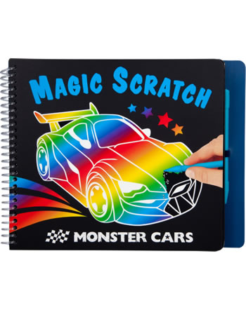 Monster Cars livre à colorier Magic Scratch