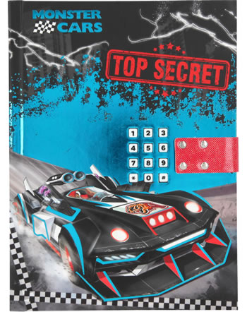 Monster Cars diary with secret code and sound Top Secret