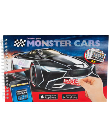 Monster Cars Pocket colouring book Create your Monster Cars
