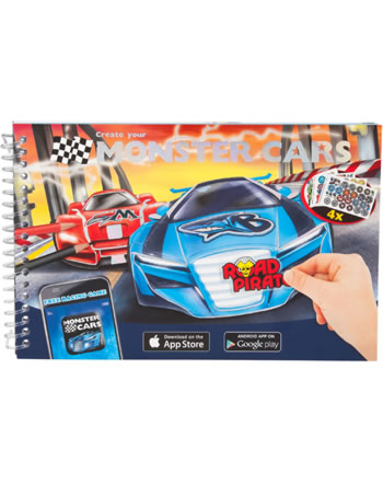Monster Cars Taschen-Malbuch Create your Monster Cars