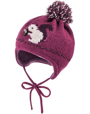 MaxiMo Bobble hat SQUIRREL dark pink 75575-246700-0026