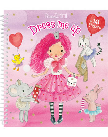 Princess Mimi Dress me up painting book with stickers with friends
