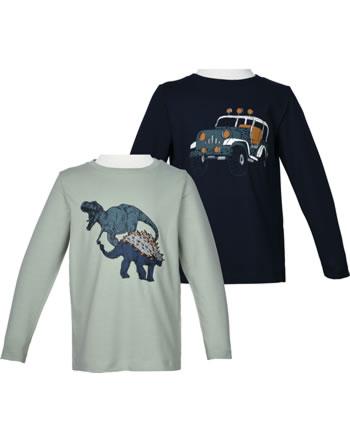 name it 2er Pack T-Shirt Langarm NMMROLLOS desert sage 13191565