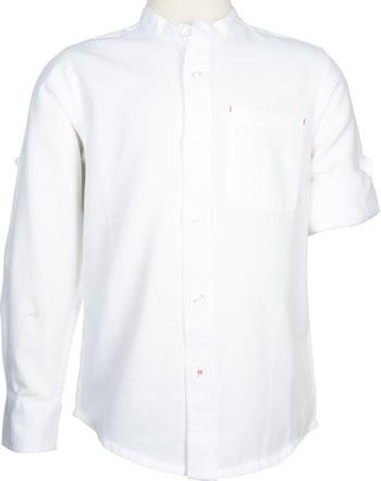 name it Hemd Langarm NKMFISH bright white 13175075