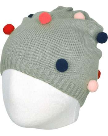 name it Mütze mit Pompoms NMFMIS grey melange 13156019