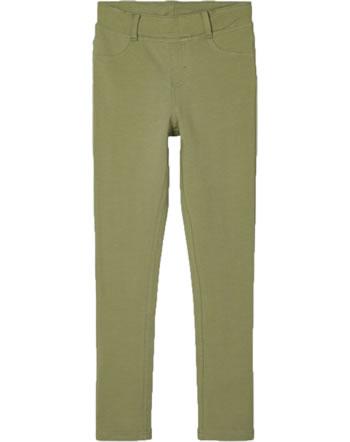 name it Sweat-Leggings NKFJAVI SOLID deep lichen green 13192841