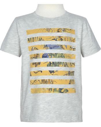 name it T-Shirt Kurzarm NMMJAMIE light grey melange 13190423