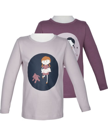 name it T-Shirt long sleeve Set of 2 NMFRINAIA violet ice 13191562