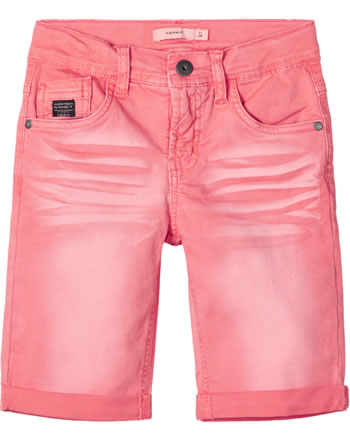 name it Twill-Longshorts NKMSOFUS TWICAS neon coral 13178691