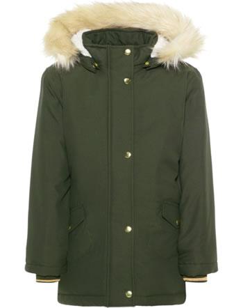 name it Winter-Jacke m. Fell-Kapuze NKFMOA rosin 13167900