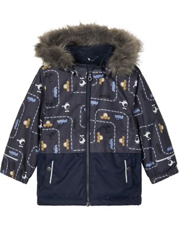 name it Winter-Jacke m. Fell-Kapuze NMMSNOW 08 dark sapphire 13177595