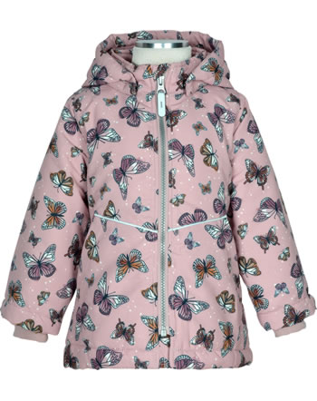 name it Winter Jacket hooded NMFMAXI BUTTERFLY pale mauve 13193324