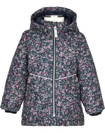 name it Winter Jacket hooded NMFMAXI PETIT FLOWER dark sapphire 13192815