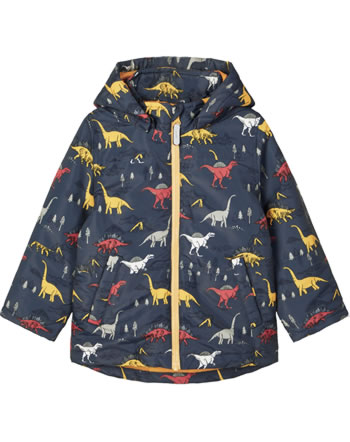 name it Winter Jacket hooded NMMMAX DINOSAUR ombre blue 13183163