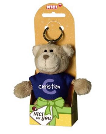 Nici Schlüsselanhänger Plüsch Bär mit Jungennamen