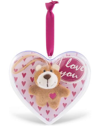 Nici bear 6 cm in decoration heart I love you