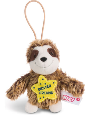 Nici Faultier Bester Freund 8 cm mit Loop Message to go