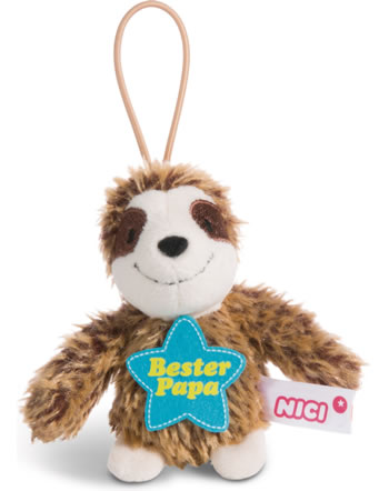 Nici Faultier Bester Papa 8 cm mit Loop Message to go