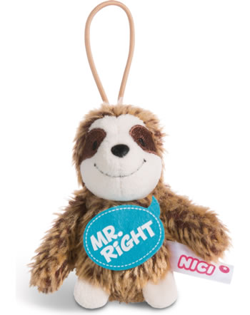 Nici sloth Mr. Right 8 cm with loop Message to go