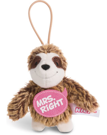 Nici Faultier Mrs. Right 8 cm mit Loop Message to go