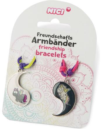 Nici Bracelet Friendship 2 pieces unicorn Rainbow