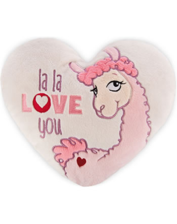 Nici Kissen herzförmig Lama la la love you