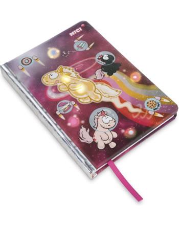 Nici Notizbuch DIN A5 mit LED Einhorn Shooting Star