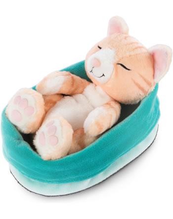 Nici Plush cat Sleeping Kitties yellow 16 cm 47145