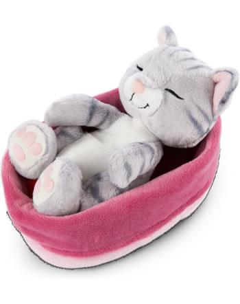 Nici Plush cat Sleeping Kitties grey 16 cm 47144