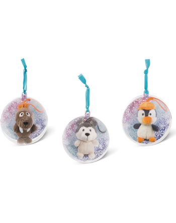 Nici Plush with Loop 7 cm in decorative ball Winter Adventure 45764
